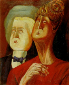 Picture of two people with noses in the air